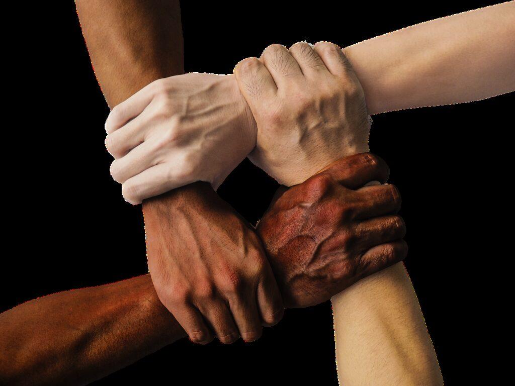 hands, team, united